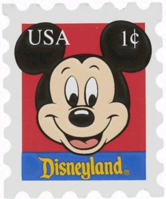 Mickey Mouse Disneyland Postage Stamp Magnet