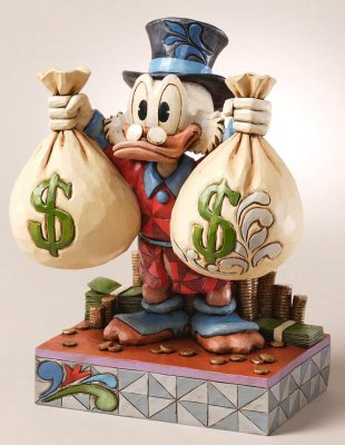 'A Wealth of Riches' - Scrooge McDuck figurine (Jim Shore Disney Traditions)