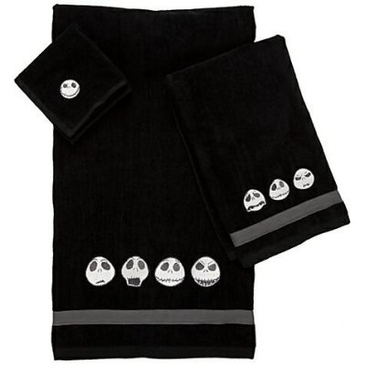 jack skellington towel set from our nightmare before christmas bathroom accessories collection. Black Bedroom Furniture Sets. Home Design Ideas