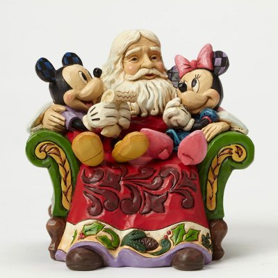 christmas wishes mickey minnie and santa figurine jim shore disney traditions