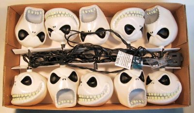 Set Of 10 Jack Skellington Decorative Lights From Our Nightmare  - Nightmare Before Christmas Light