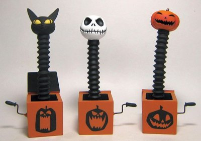 set of 3 jack in the box nightmare before christmas figures - Jack In The Box Open On Christmas