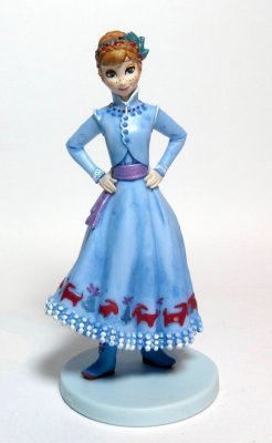 Anna PVC figurine (from Disney's 'Olaf's Frozen Adventure')