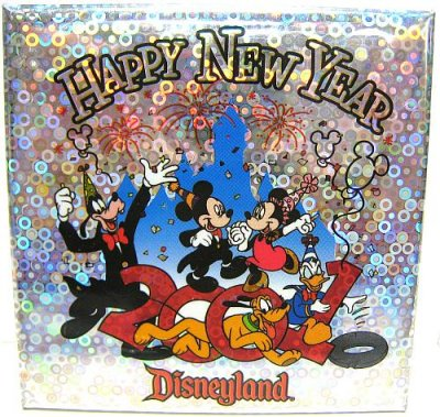happy new year disneyland 2001 button