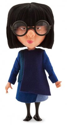 Edna Mode interactive talking plush doll, from Disney/Pixar's 'The Incredibles'