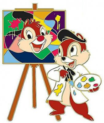 Chip Painting Dale Art Studio Series Pin