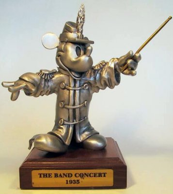 Mickey Mouse large pewter figure, from 1935's The Band Concert