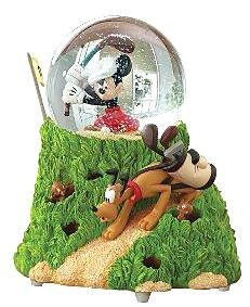 Canine Caddy musical snowglobe