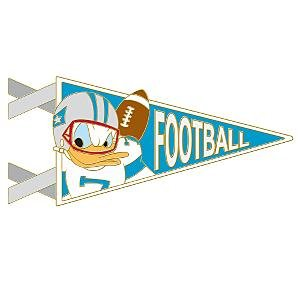 Donald Duck football pennant series pin