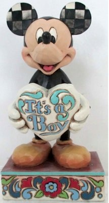 It S A Boy Mickey Mouse Baby Announcement Figurine