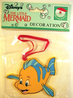 2-sided Flounder wood ornament