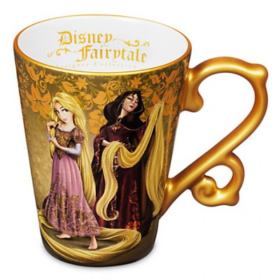 Rapunzel and Mother Gothel fairytale coffee mug