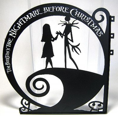 Nightmare Before Christmas Jack Amp Sally Hanging Sign From
