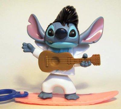 Stitch As Elvis Presley Bobble Waist On Surfboard Fast