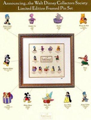 Walt Disney Collectors Society Framed Pin set from our Walt Disney ...