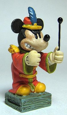 Bandleader Mickey Mouse miniature pewter figure