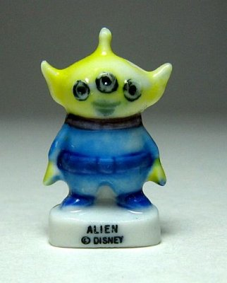 Alien (Little Green Man) porcelain miniature figure
