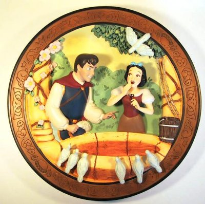 Love's first glance decorative plate