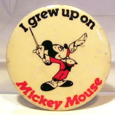 I grew up on Mickey Mouse button