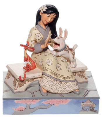 'Honorable Heroine' Mulan white woodland figurine (Jim Shore Disney Traditions)