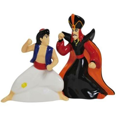 Aladdin Amp Jafar Magnetized Salt Amp Pepper Shaker Set