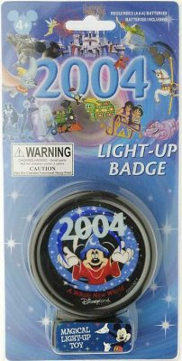 Light Up Badge Promoting Disneyland S 2004 Season From Our