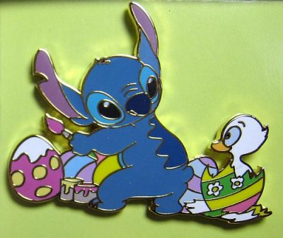 Stitch Painting Easter Eggs With Chick Pin From Our Pins Collection Disney Collectibles And