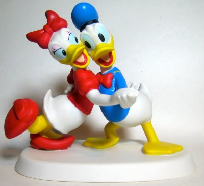 'I Only Want to Dance with You' - Donald and Daisy Duck dancing figurine
