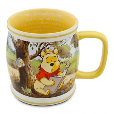 Winnie the Pooh and Piglet hunny-pot shaped large coffee