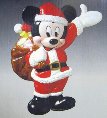 Santa Mickey Mouse Wall Plaque From Our Schmid Bros