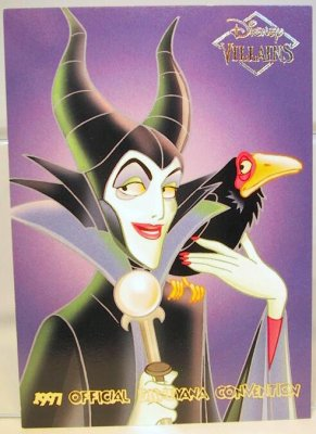 maleficent with diablo disney villains 2sided card from