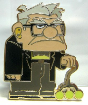 Carl Fredricksen 'Up Pin Set' pin