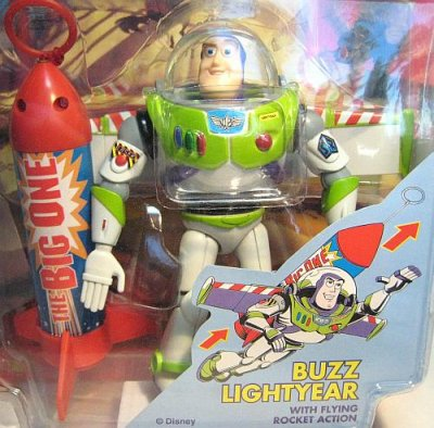 buzz lightyear action figure with rocket action from our other