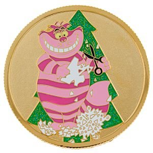 Cheshire Cat Holiday Coin Christmas series pin