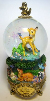 Bambi 'Masters of Animation' musical snowglobe (used)
