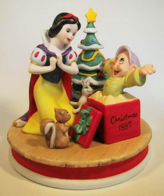 Snow White's surprise - Christmas scene figure (1987)