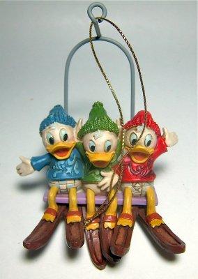 Huey Dewey And Louie Ski Lift Holiday Ornament Jim Shore