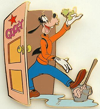 Goofy dressing room door pin from our Pins collection