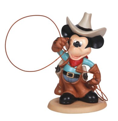 'Cowboy Mickey' - Mickey Mouse as a cowboy figurine