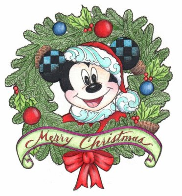 PRE-ORDER: Mickey Mouse 'Merry Christmas' wreath pin (Jim Shore ...