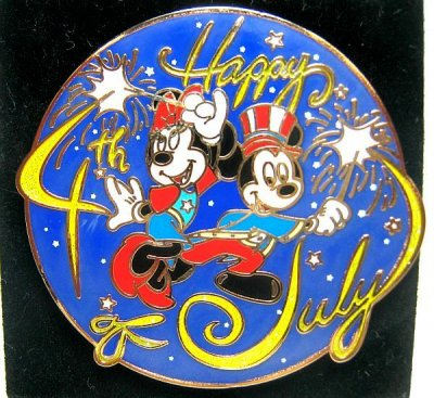 mickey and minnie happy 4th of july pin from our pins