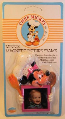 Chef Mickey Minnie Mouse photo frame magnet