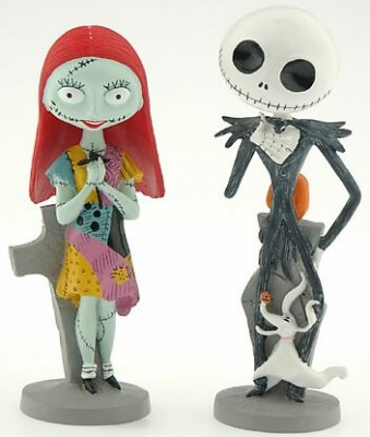 Jack Skellington and Sally bobblehead set