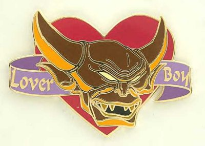 Lover Boy Chernabog St Valentine's Day pin