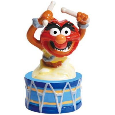Animal Muppet on drum magnetized salt & pepper shaker set (Westland)