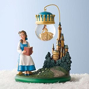 Belle snowglobe ornament with stand