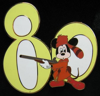 'The R'Coon Dawg' Mickey Mouse Disney pin (80th anniversary set)