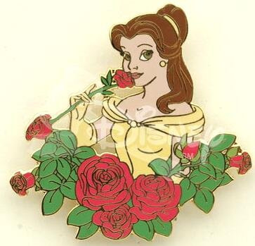 Belle Smells The Roses Pin From Our Pins Collection