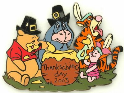 Pooh & pals Thanksgiving 2003 pin from our Pins collection ...