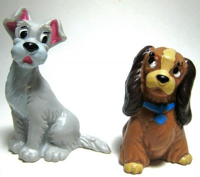 Set Of Lady And Tramp Pvc Figures From Our Pvcs Collection